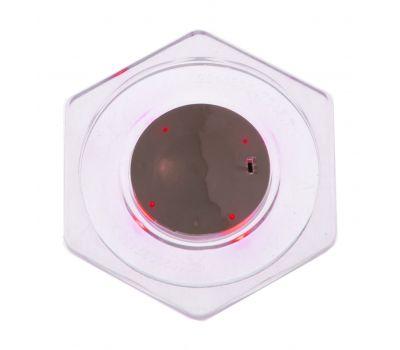 Шайба для аэрохоккея LED «Atomic Top Shelf» (прозрачная, шестигранная, красный светодиод) D74 mm, фото 1
