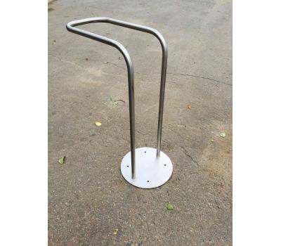Велопарковка одиночная ВП4 из нержавейки, фото 1