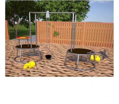 Мобильная детская игровая площадка Станция песочная, фото 1