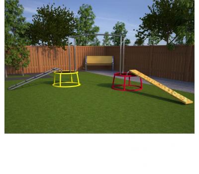 Мобильная детская игровая площадка Переправа, фото 1