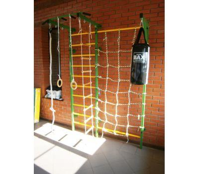 Домашний спортивный комплекс Семейный S1, с сетью для лазания, турником и кронштейном под грушу., фото 2