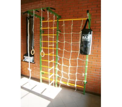 Домашний спортивный комплекс Семейный S1, с сетью для лазания, турником и кронштейном под грушу., фото 3