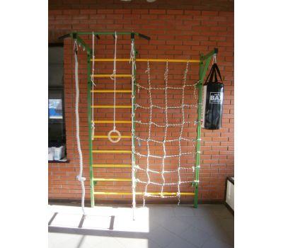 Домашний спортивный комплекс Семейный S1, с сетью для лазания, турником и кронштейном под грушу., фото 4