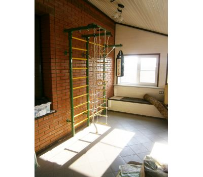 Домашний спортивный комплекс Семейный S, с сетью для лазания и турником, фото 5