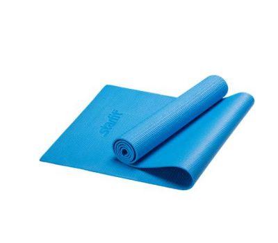 Коврик для йоги STARFIT FM-101 PVC 173x61x0,6 см, синий 1/16, фото 1