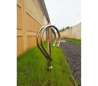 Велопарковка Дабл на 2 велосипеда из нержавеющей стали, фото 3