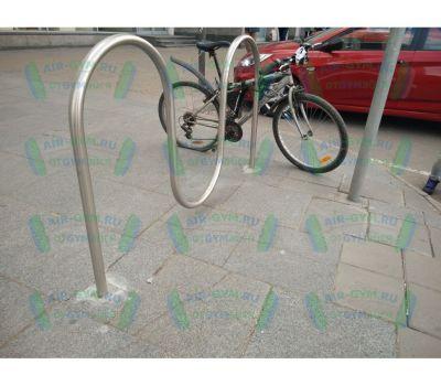 Велопарковка Волна из нержавеющей стали, фото 2