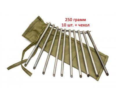 Колышки в чехле (алюминиевый сплав, 8,0 х 180 мм, компл. 10 шт), фото 1