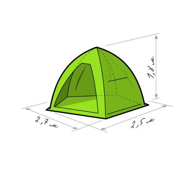Зимняя палатка «ЛОТОС 3 Универсал», фото 2