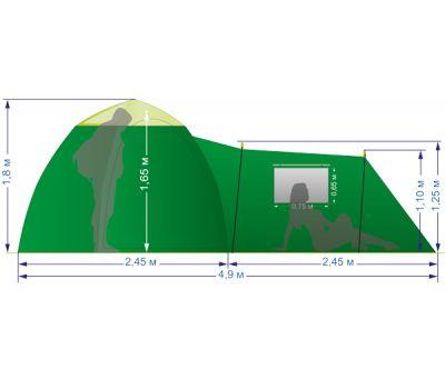 Летняя палатка Лотос 3 Саммер (комплект), фото 2