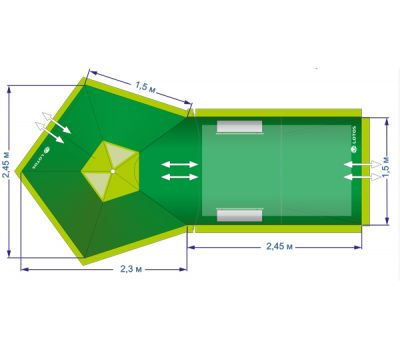 Летняя палатка Лотос 2 Саммер(комплект), фото 23