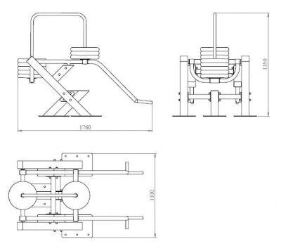 Уличный тренажер Становая тяга YTX3, фото 2