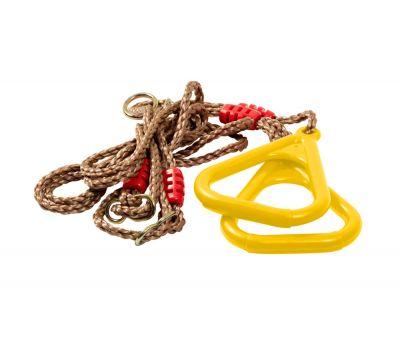 Гимнастические кольца на веревках (цвет: желтый), фото 2