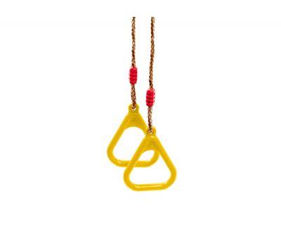 Гимнастические кольца на веревках (цвет: желтый), фото 1