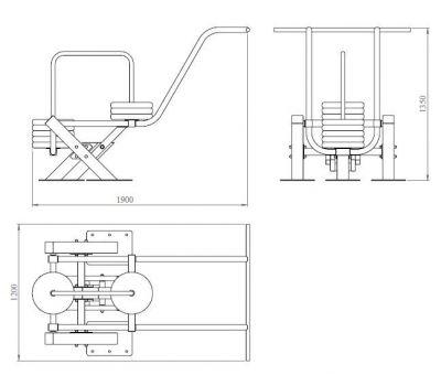 Тренажёр для приседаний YTX5, фото 2