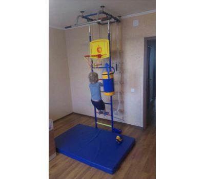 Набор боксерский детский № 2 (мешок боксерский 5 кг. + перчатки + трос) синий/желтый, фото 3