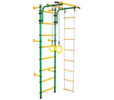 Детский спортивный комплекс ЮНЫЙ АТЛЕТ модель Пристенный зелёно/жёлтый