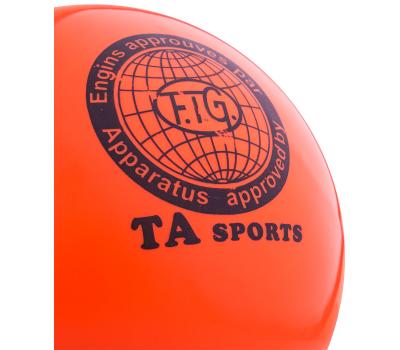 Мяч для художественной гимнастики RGB-101, 19 см, оранжевый, фото 2