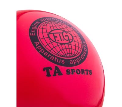 Мяч для художественной гимнастики RGB-101, 19 см, красный, фото 2