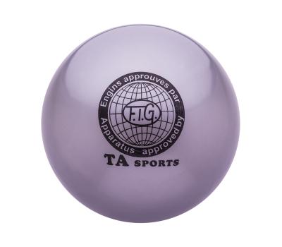 Мяч для художественной гимнастики RGB-101, 19 см, серый, фото 1