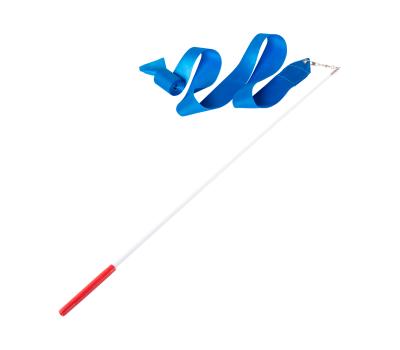 Лента для художественной гимнастики AGR-201 6м, с палочкой 56 см, голубой, фото 1