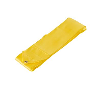 Лента для художественной гимнастики AGR-201 4м, с палочкой 46 см, желтый, фото 2