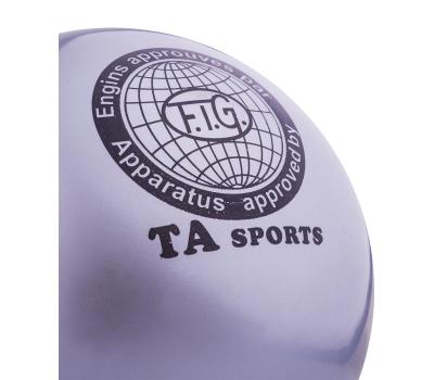 Мяч для художественной гимнастики RGB-101, 15 см, серый, фото 2