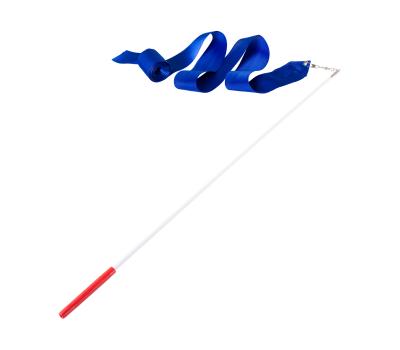Лента для художественной гимнастики AGR-201 4м, с палочкой 46 см, синий, фото 1
