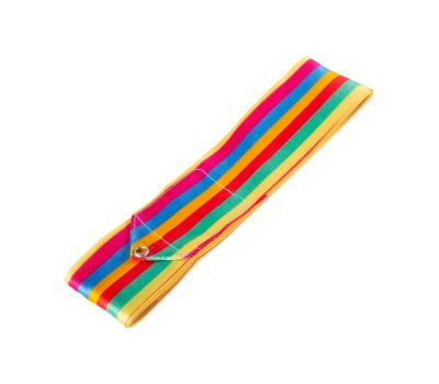 Лента для художественной гимнастики AGR-201 6м, с палочкой 56 см, радуга, фото 2