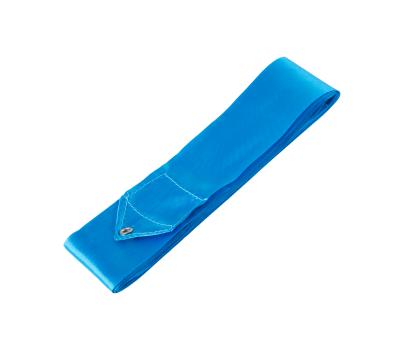 Лента для художественной гимнастики RGR-201 4м, с палочкой 46 см, голубой, фото 2
