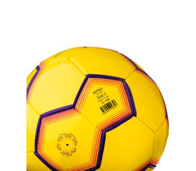 Мяч футбольный JS-100 Intro №5, желтый, фото 4