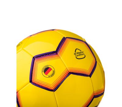 Мяч футбольный JS-100 Intro №5, желтый, фото 3
