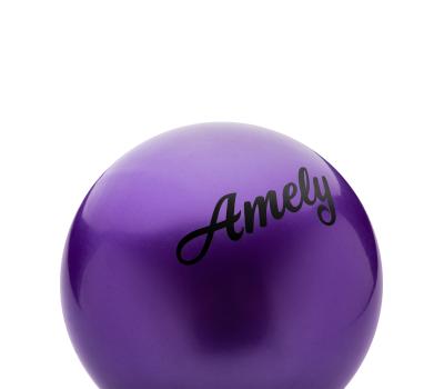 Мяч для художественной гимнастики AGB-101, 15 см, фиолетовый, фото 2