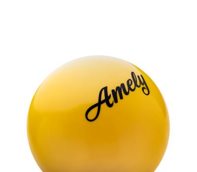 Мяч для художественной гимнастики AGB-101, 15 см, желтый, фото 2