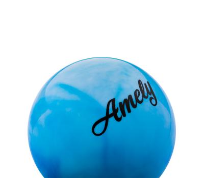 Мяч для художественной гимнастики AGB-101, 15 см, синий/белый, фото 2