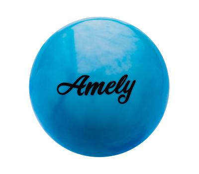 Мяч для художественной гимнастики AGB-101, 15 см, синий/белый, фото 1