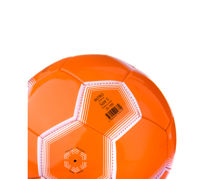 Мяч футбольный JS-100 Intro №5, оранжевый, фото 4