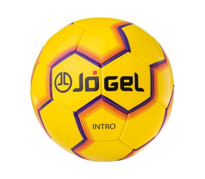 Мяч футбольный JS-100 Intro №5, желтый, фото 2