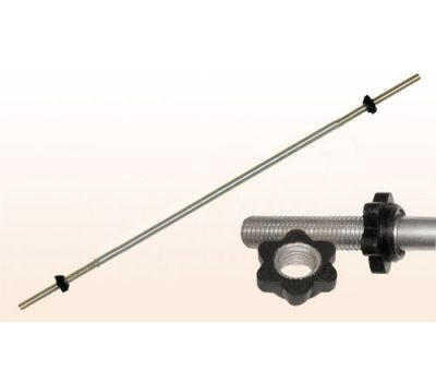 """Гриф для штанги """"Титан"""" d 26 мм хромированный  1500 мм, замок-гайка, фото 1"""