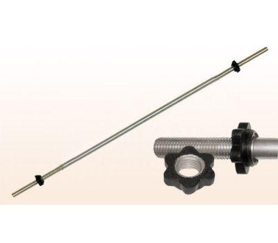 """Гриф для штанги """"Титан"""" d 31 мм хромированный  1500 мм, замок-гайка, фото 1"""