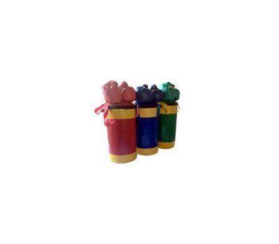 Набор боксерский детский № 2 (мешок боксерский 5 кг. + перчатки + трос) зелёно/желтый, фото 1