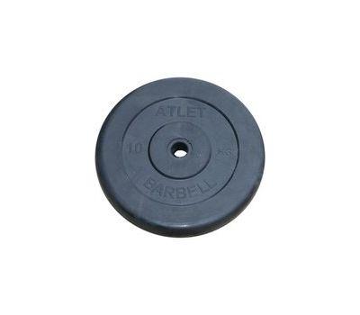 Диск обрезиненный d 31 мм черный 10 кг Atlet, фото 1