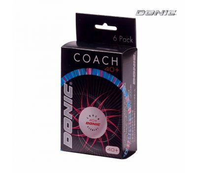 Мячики для н/тенниса DONIC 40+ Coach Ball пластик белые, фото 2