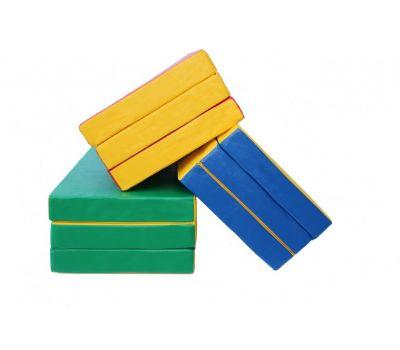 Мат № 4 (100 х 150 х 10) складной зелёно/жёлтый, фото 1