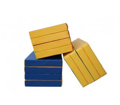 Мат № 5 (100 х 200 х 10) складной 3 сложения красно/жёлтый, фото 1