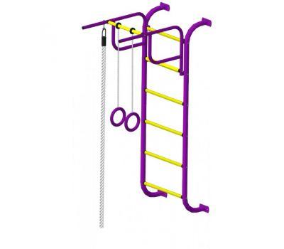 Детский спортивный комплекс Пионер 7 пурпурно/жёлтый, фото 4