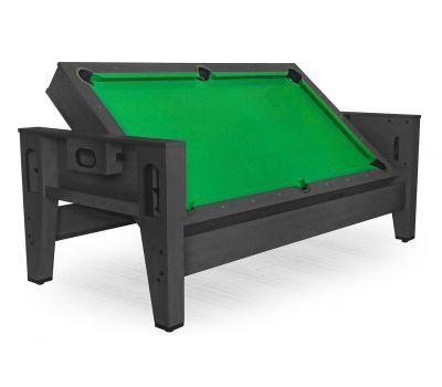 Cтол-трансформер «Twister» 3 в 1 (3 игры: бильярд, аэрохоккей, настольный теннис; 217 х 107,5 х 81 см; черный)