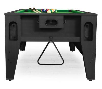 Cтол-трансформер Twister 3 в 1 (3 игры: бильярд, аэрохоккей, настольный теннис; 217 х 107,5 х 81 см; черный), фото 2
