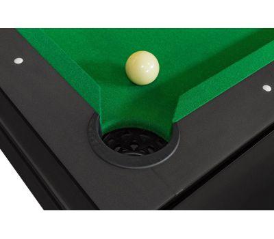 Cтол-трансформер Twister 3 в 1 (3 игры: бильярд, аэрохоккей, настольный теннис; 217 х 107,5 х 81 см; черный), фото 5