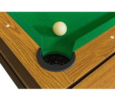 Cтол-трансформер «Twister» 3 в 1 (бильярд, аэрохоккей, настольный теннис, 217 х 107,5 х 81 см, дуб), фото 6